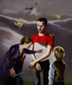 Mathias Perlet, Ecco - (große Bühne für C.), 200x170 cm, 2014, Mischtechnik auf Leinwand