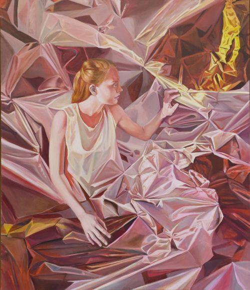 Mathias Perlet, Ein Stück vom Glück I, 140x120 cm, 2014, Eitempera und Öl auf Leinwand