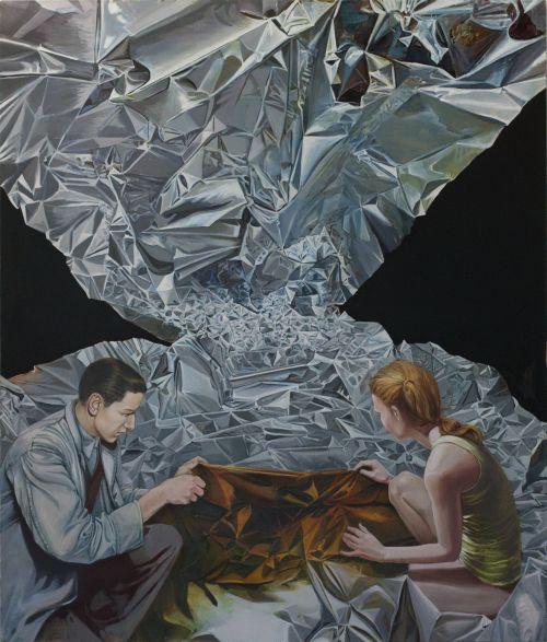 Mathias Perlet, Eldorado, 200x160 cm, 2014, Eitempera und Öl auf Leinwand