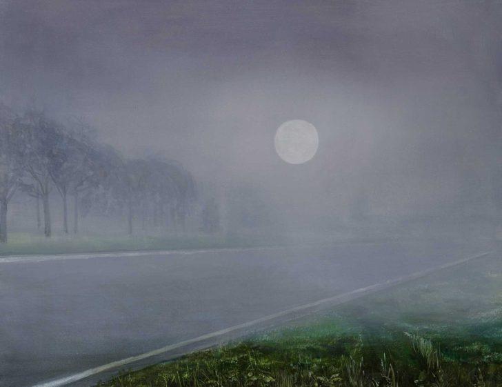 Mathias Perlet, Im Nebel III, 60x90 cm, 2015, Mischtechnik auf Leinwand