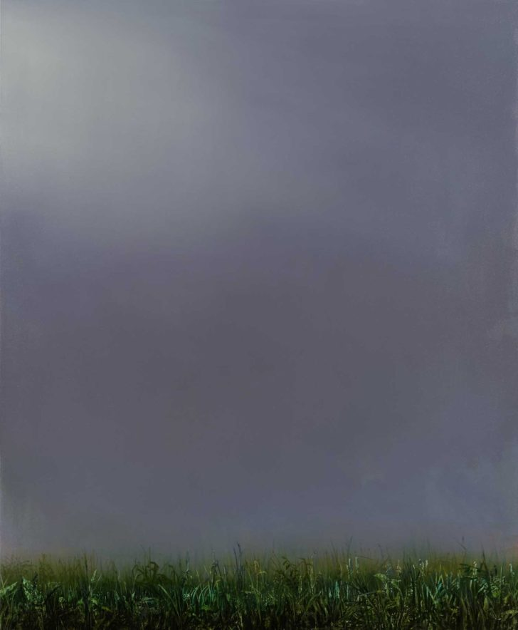 Mathias Perlet, Im Nebel I, 110x90 cm, 2015, Mischtechnik auf Leinwand