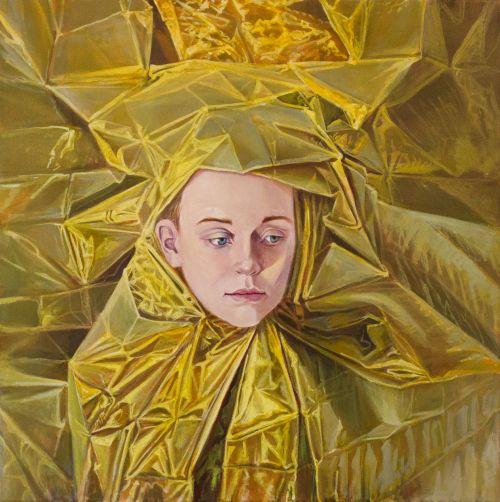 Mathias Perlet, Rose von Jerichow IV, 70x70 cm, 2014, Eitempera und Öl auf Leinwand