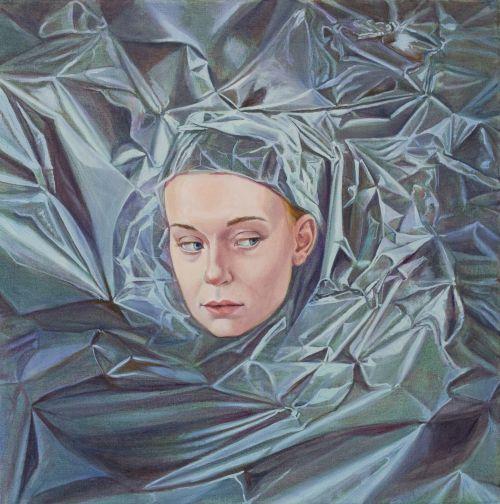 Mathias Perlet, Rose von Jerichow I, 70x70 cm, 2014, Eitempera und Öl auf Leinwand