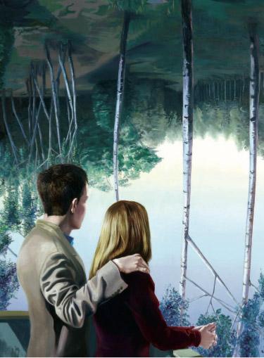 Mathias Perlet, Schöne Aussicht II, 160x130 cm, 2008, Eitempera und Öl auf Leinwand