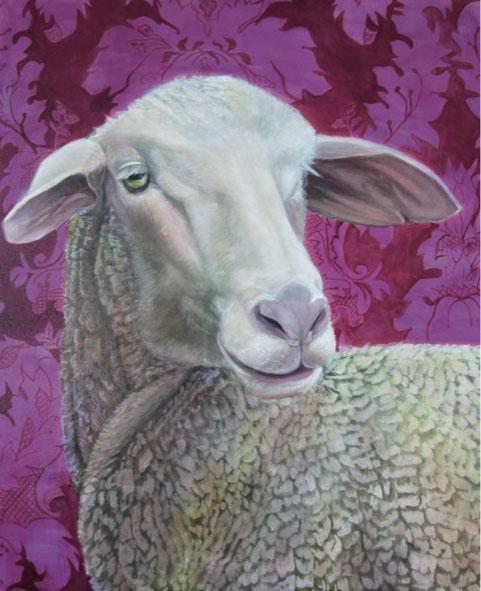 Mathias Perlet, Schönes Schaf, 120x100 cm, 2012, Eitempera und Öl auf Leinwand