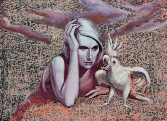 Mathias Perlet, Sprechstunde, 78x107 cm, 2011, Mischtechnik auf Bütten