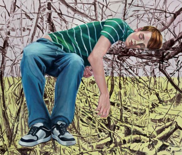 Mathias Perlet, Tief im Herzen rauscht der Wald, 2012, Eitempera und Öl auf Leinwand