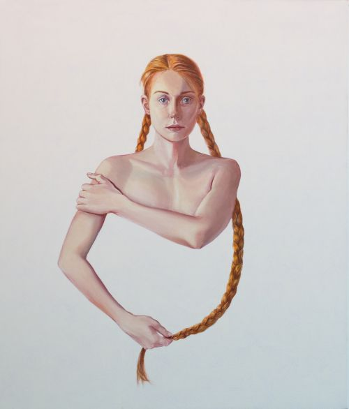 Mathias Perlet, Unschuld IV, 140 x 120 cm, Eitempera und Öl auf Leinwand