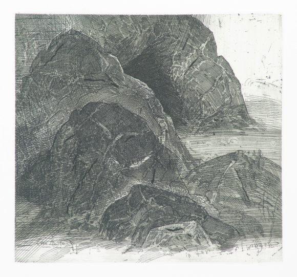 Robert Schmiedel, In der Twingi, 17,5x18,7 cm, 2006, Radierung