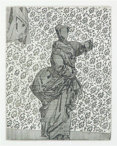 Robert Schmiedel, Sabenque, 19,7x15,5 cm, 2001, Radierung