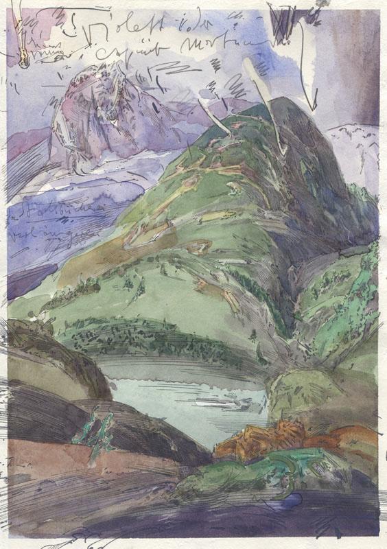 Robert Schmiedel, Violet Egger, 30x21 cm, 2010, Federzeichnung und Aquarell auf Papier