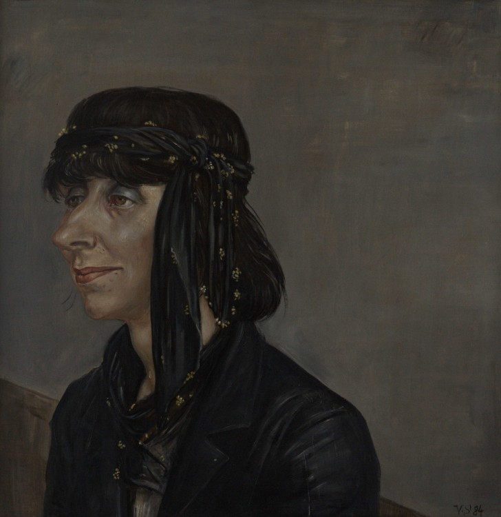 Volker Stelzmann, Annegret, 70x70 cm, 1984