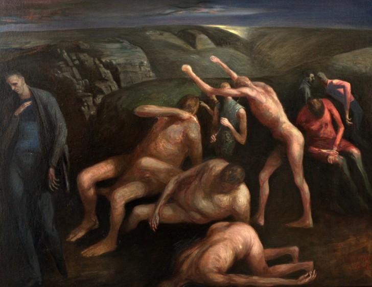 Volker Stelzmann, Canyon, 70x90 cm, 1995