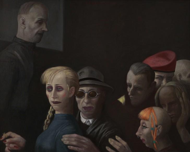 Volker Stelzmann, Nacht, 80x100 cm, 2008