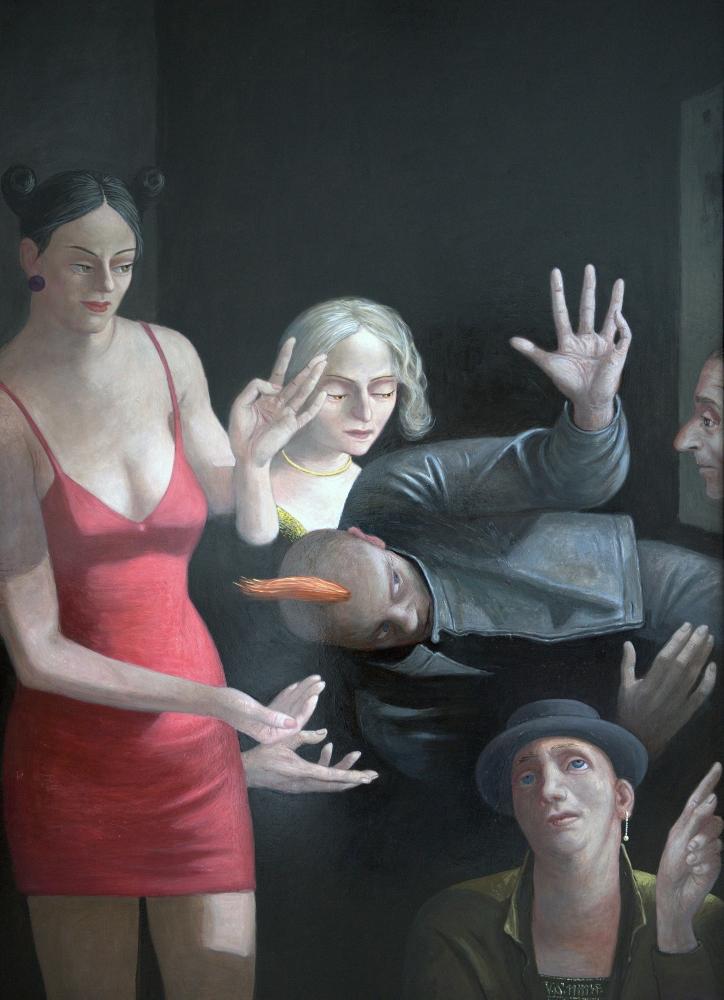 Volker Stelzmann, Nachtstück, 140x100 cm, 2011