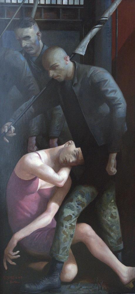 Volker Stelzmann, Schlaf, 170x80 cm, 1992
