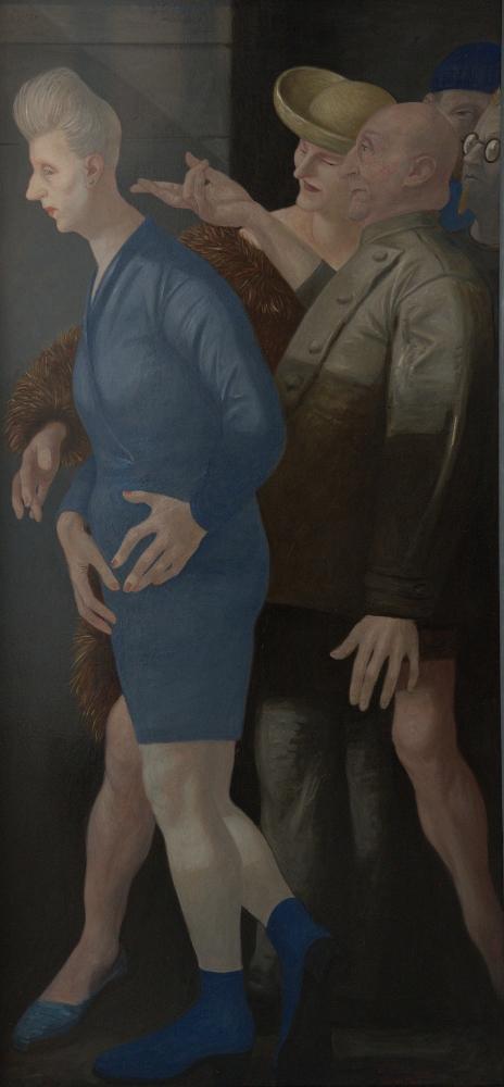 Volker Stelzmann, Straße XIV, 170x70 cm, 2002