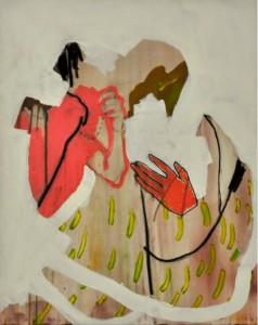 Marta Vovk, Banana, 2013, 75 x 60 cm, Mischtechnik auf Leinwand