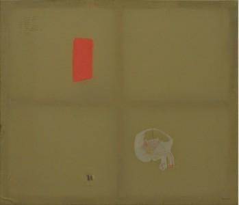 Marta Vovk, Bladder, 2014, 130 x 150 cm, Mischtechnik auf Leinwand