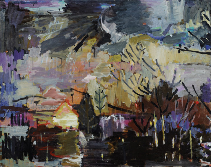 Lutz Bleidorn, Landschaft im Herbst, 140x110 cm, 2011, Öl auf Leinwand