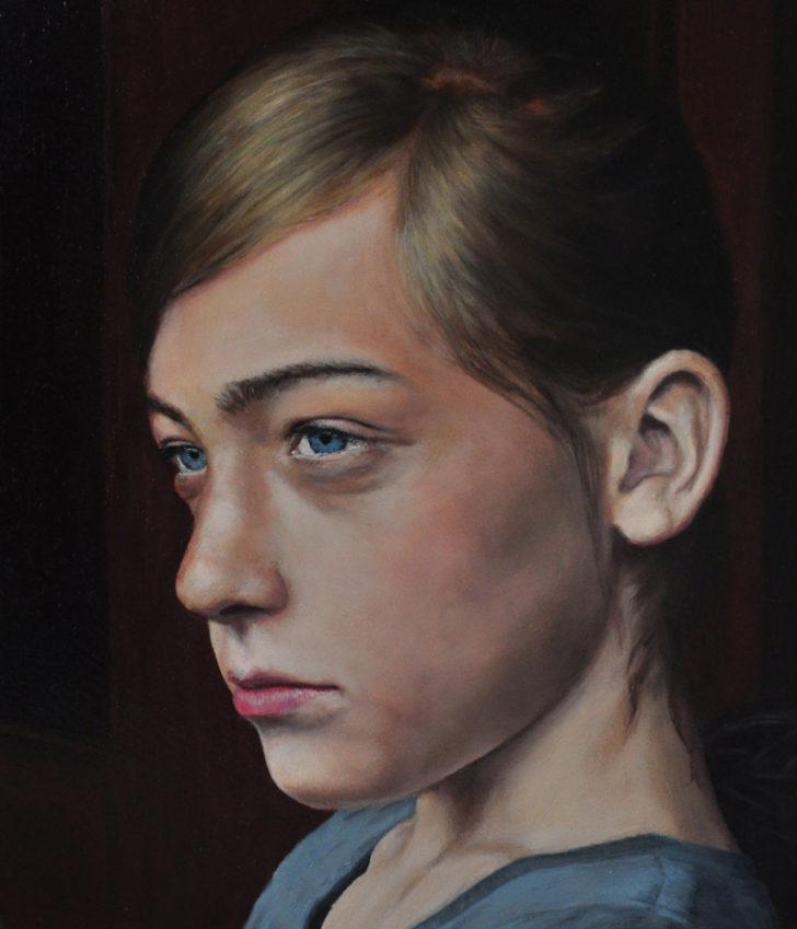 Sebastian Friedrich, Anna 1, 20x14,5 cm, 2011, Öl auf MdF