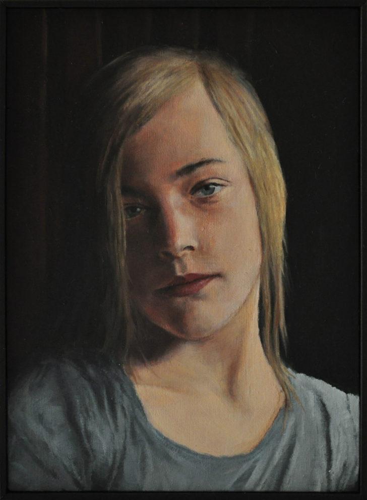 Sebastian Friedrich, Anna 2, 20x14,5 cm, 2011, Öl auf MdF