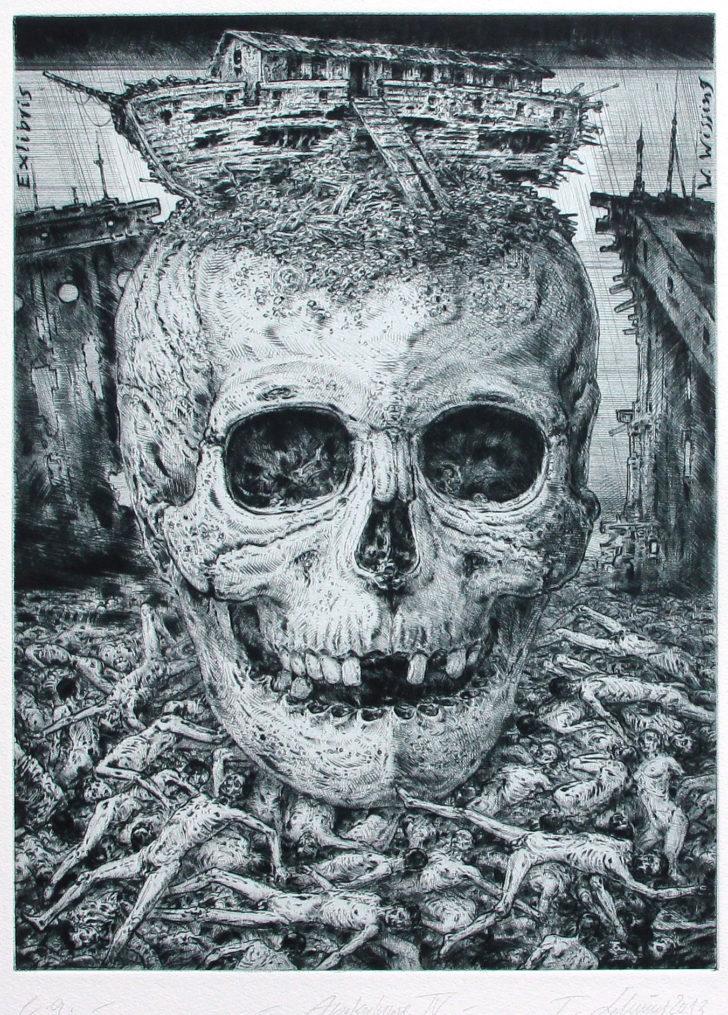 Thomas Löhning, Apokalypse IV, 21,9x29,8 cm, 2013, Radierung