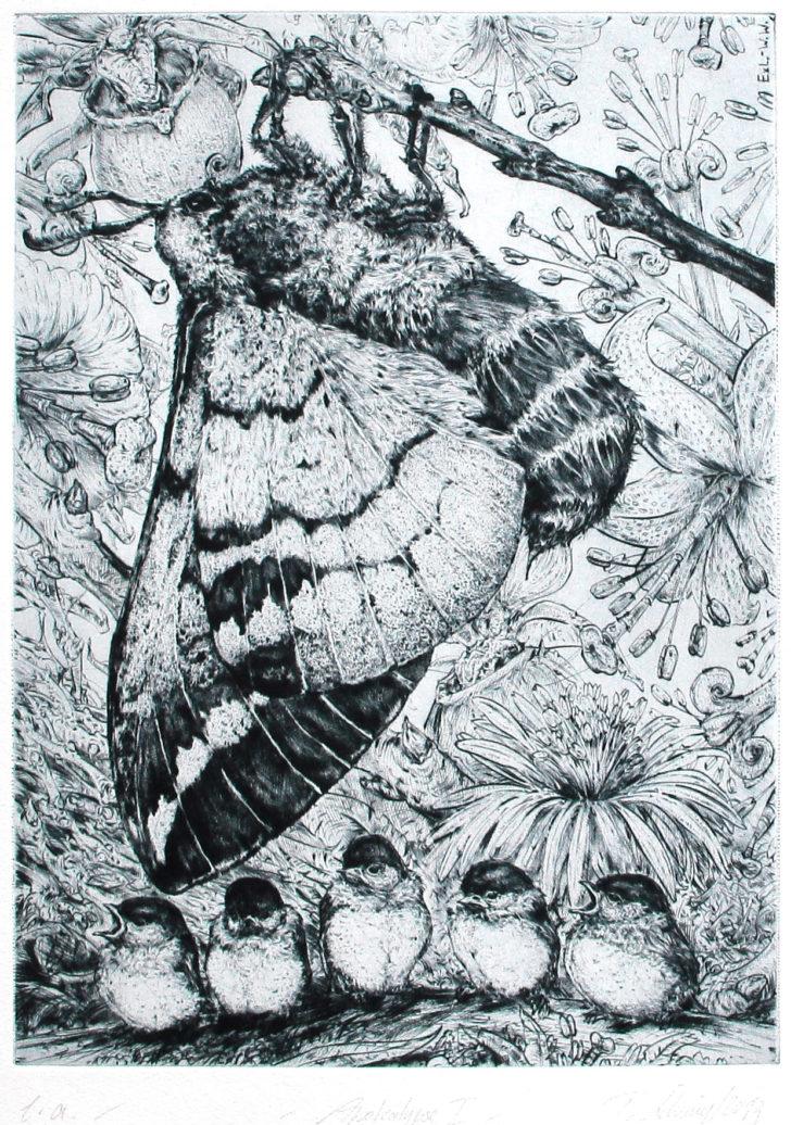 Thomas Löhning, Apokalypse I, 21,9x29,8 cm, 2013, Radierung