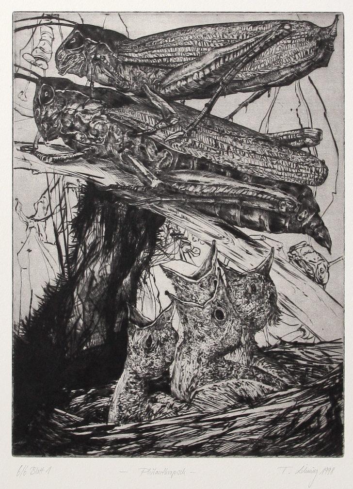 Thomas Löhning, Philanthropisch, 22x29,7 cm, 1998, Radierung