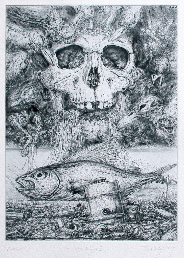 Thomas Löhning, Apokalypse 2, 21,9x29,8 cm, 2001, Radierung