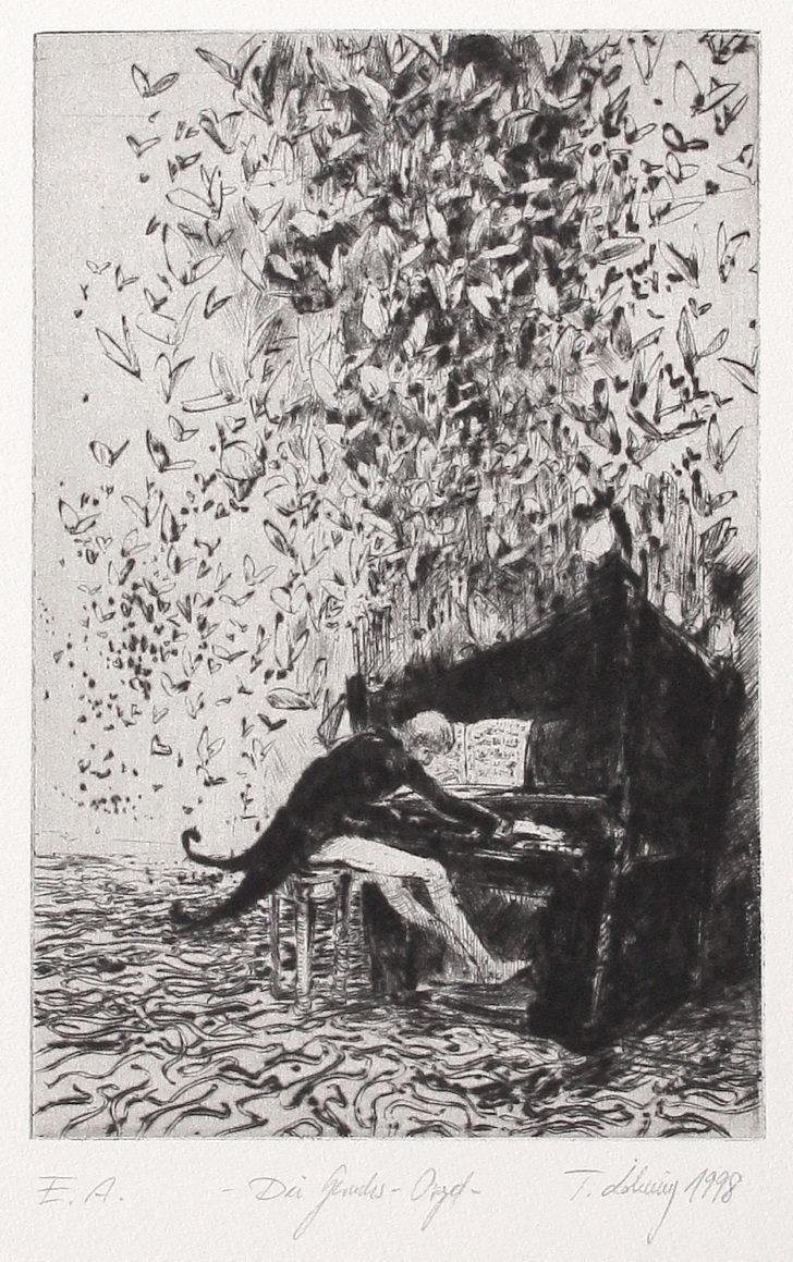 Thomas Löhning, Die Geruchsorgel, 14,1x21,2 cm, 1998, Radierung