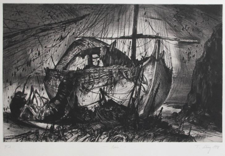 Thomas Löhning, Nein!, 45,7x28,7 cm, 1998, Radierung