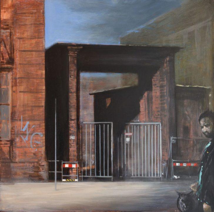 Andreas Wachter, Ecke Tucholskystr., 50x50 cm, Mischtechnik auf MdF