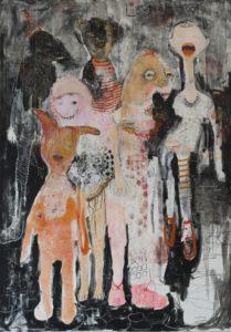 Juliane Hundertmark, Last show, 2012, Mischtechnik auf Leinwand