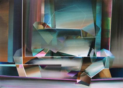 Marten Kirbach, o. T., 70x100 cm, 2013, Acryl auf Leinwand