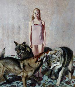 Mathias Perlet, Vollmond II, 200x170 cm, 2015, Mischtechnik auf Leinwand