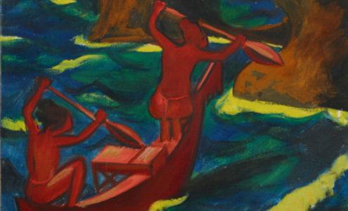 Max Pechstein, Ausbrechender Monsum, 1917, Öl auf Leinwand