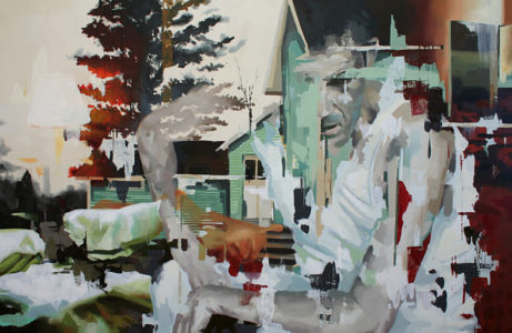 Franz Ehrenberg, Nachbar, 145x220cm, 2011, Öl auf Leinwand