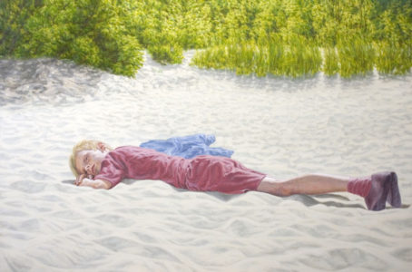 Oliver Pfützenreuter, Boy on the Beach, 100x150 cm, Öl auf Leinwand