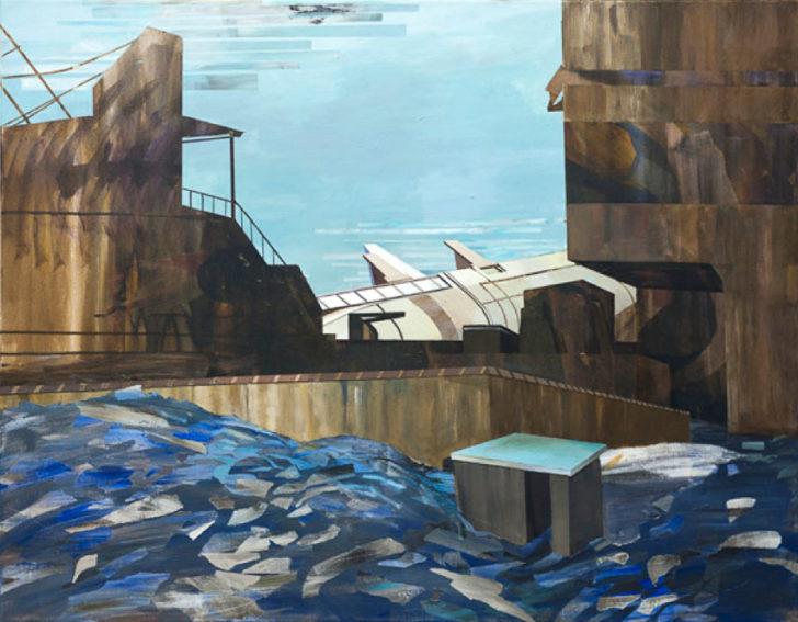 Frank Seidel, Uncharted III, 2012,  80x100 cm, Acryl auf Leinwand