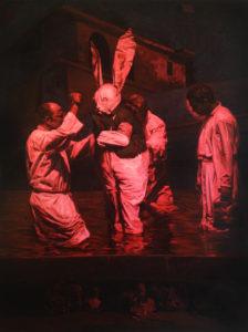 Enkelejd Zonja, Identic Fiction, 170x120 cm, 2016 , Öl auf Leinwand