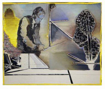 Christofer Kochs, Ankündigung, 100x120 cm, 2016