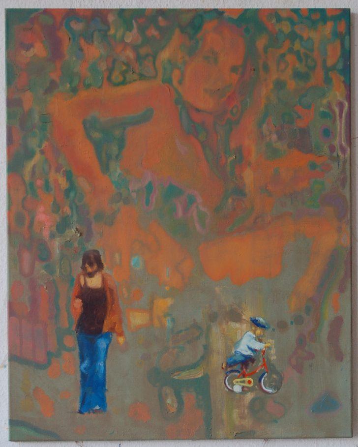 Jens Wohlrab, New Human, 85x110 cm, 2012, Öl auf Leinwand