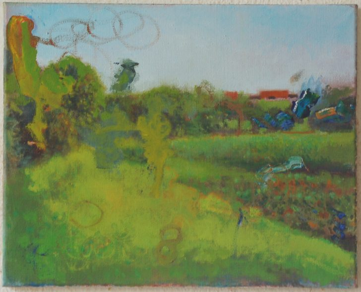 Jens Wohlrab, Sommer still, 40x50 cm, 2015, Öl auf Leinwand