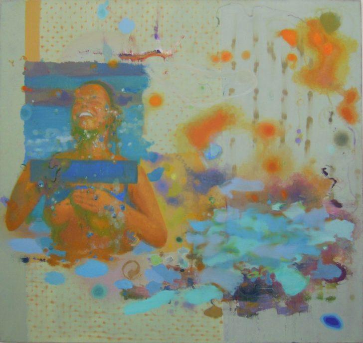 Jens Wohlrab, Joy Splash, 150x160 cm, 2012, Öl auf Leinwand