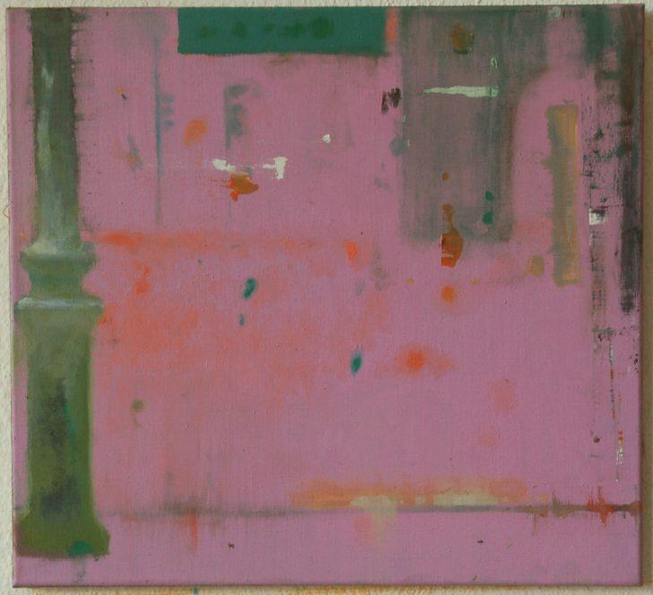 Jens Wohlrab, Grünlich, 55x60 cm, 2012, Öl auf Leinwand