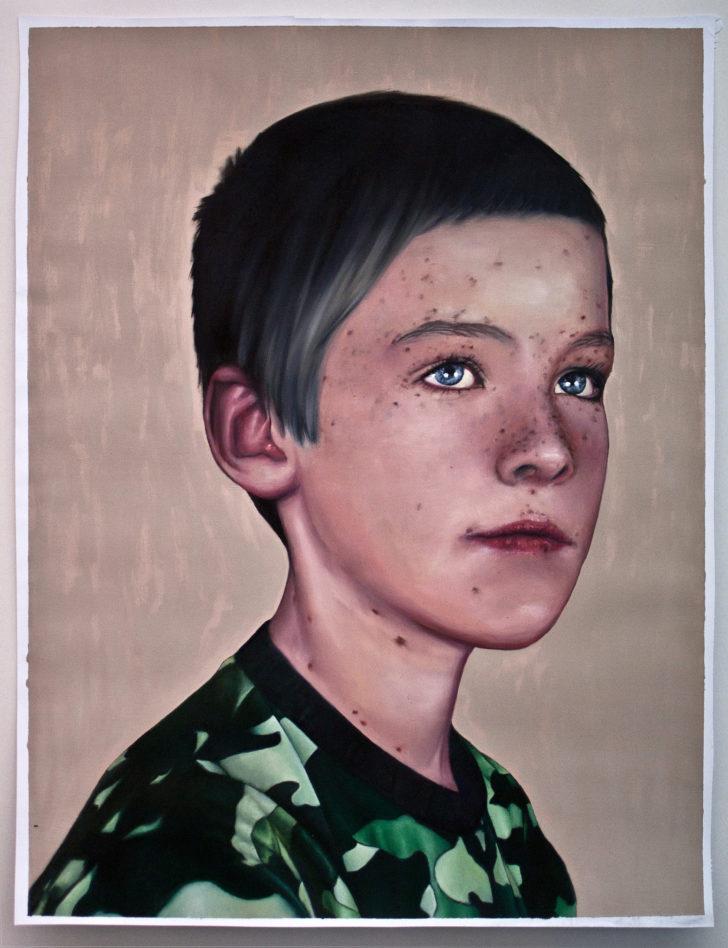 Michael Klipphahn, America, 60x40 cm, 2016, Öl auf Papier