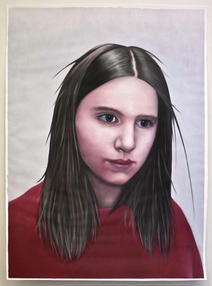 Minna, 60x40cm, 2016, Oel auf Papier