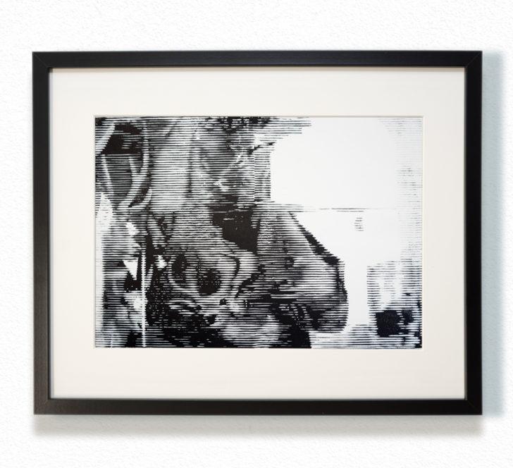 Franz Ehrenberg, Jagd, 30x22,5 cm, 2016, Holzschnitt