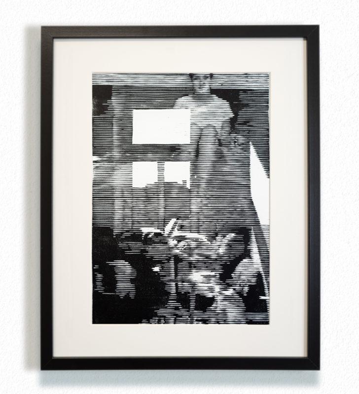 Franz Ehrenberg, Once, 30x22,5 cm, 2016, Holzschnitt